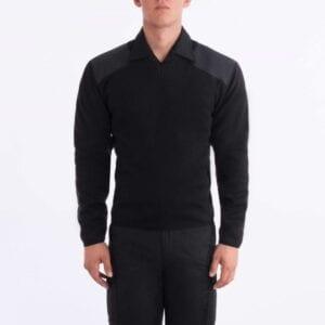 Blauer Fleece Lined V-Neck Sweater