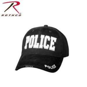 Deluxe Police Low Profile Ball Cap (OSFM), Black