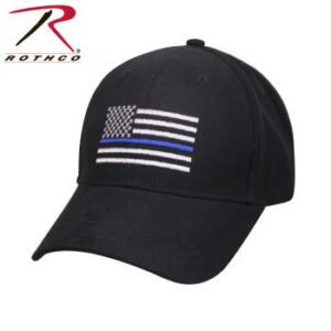 Thin Blue Line Flag Low Profile Ball Cap, Black (OSFM)