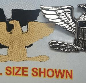 """Mini Rank Insignia 13/16"""" Colonel, Smooth, Silver"""