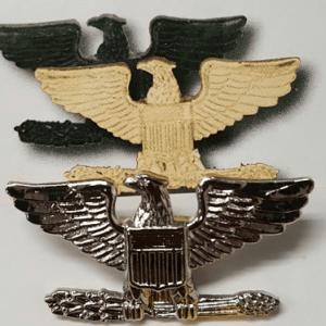"""Colonel Eagles, Silver, 1.5"""""""