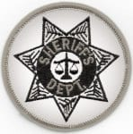 "Round 3"" Circle, Sheriff Dept., Black/Grey Reflective"