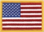 "2 1/4"" X 3 1/2"" American Flags, Gold Border"