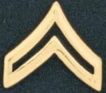 "Corporal Chevron, 3/4"", Gold (military style)"