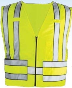 Zip-Front 5 Point Breakaway Safety Vest w/POLICE