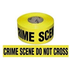 Proline Safety Barricade Tape, CRIME SCENE