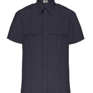 Elbeco Mens Textrop2 Short Sleeve Uniform Shirt, Dark Navy