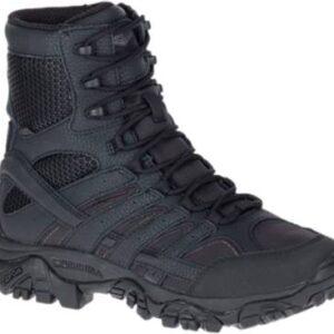 Merrell Mens Moab II Side Zip Waterproof Boot, Black
